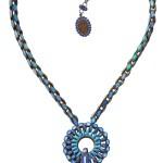 Necklace Miranda Konstantinidou Ethnic Mosaic SS2014, blue stones