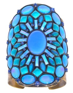 Bangle Miranda Konstantinidou Ethnic Mosaic SS2014, blue stones
