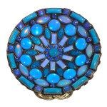 Miranda Konstantinidou Ethnic Mosaic SS2014, blue stones and Svaroski