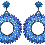 Earrings Miranda Konstantinidou Ethnic Mosaic SS2014, blue stones and Svarovski